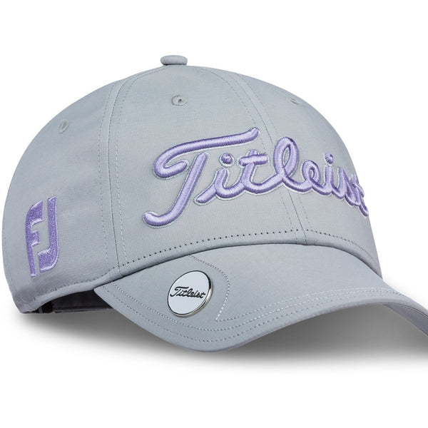 Titleist Golf- Ladies Tour Performance Ball Marker Cap Gray Collection (Grey/Purple) - Golf Country Online