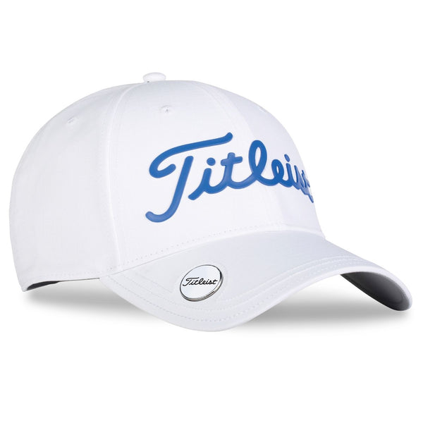 Titleist Golf- Performance Ball Marker Cap White Collection - White/Blue - Golf Country Online