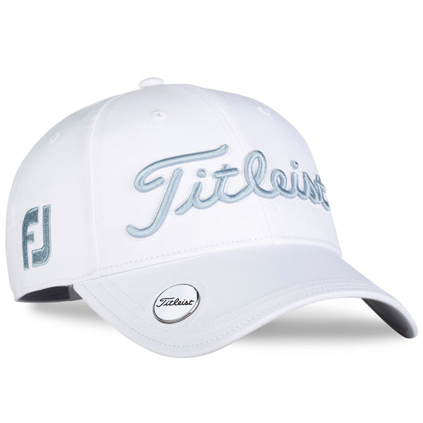 Titleist Golf- Ladies Tour Performance Ball Marker Cap White Collection - Light Blue