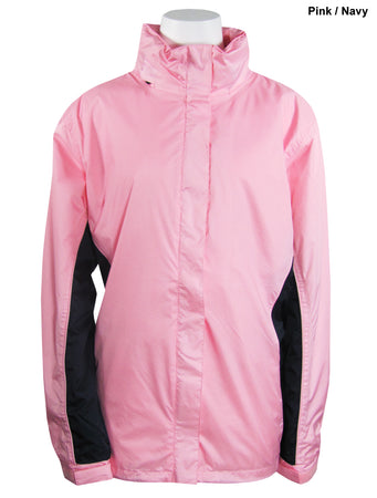 The Weather Company Ladies Rain Suit Pink/Navy (LARGE)