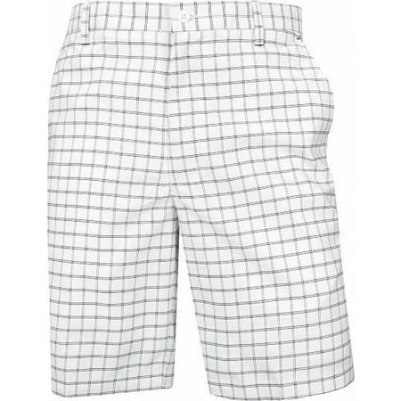 Footjoy Golf Plaid Shorts - White/black - Apparel - Bottoms