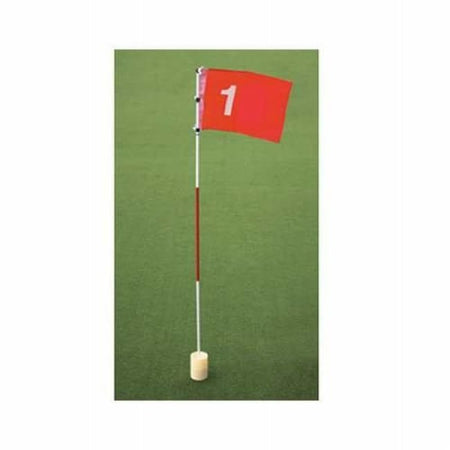 On Course Flag & Cup Golf Accessory Practice Training Aid - Golf Tees & Accessories