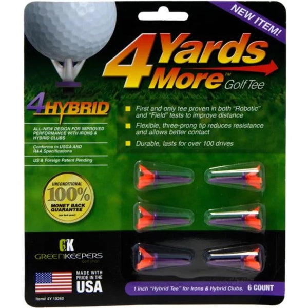 4 Yards More Golf Tees - 1