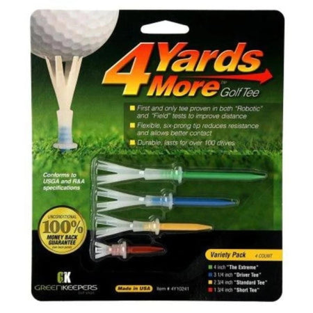 4 Yards More Golf Tees - Variety Pack - Golf Tees & Accessories