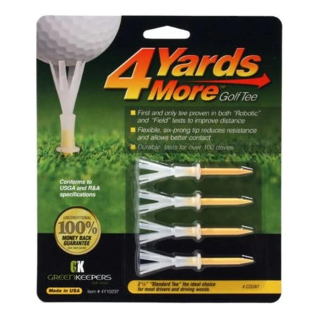 4 Yards More Golf Tees - 2 3/4 - Golf Tees & Accessories