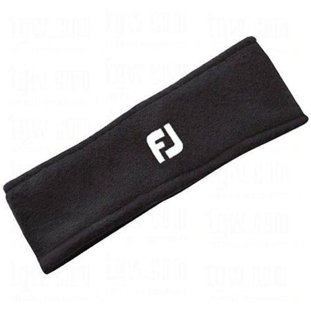 Footjoy Golf Fleece Head/ear Band - Black - Cold Weather Apparel