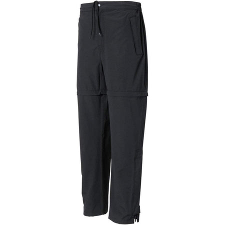 The Weather Company Mens Zip Off Convertible Rain Pants Black