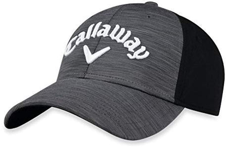 Callaway Golf Ladies Heathered Hat Cap CHARCOAL/BLACK/WHITE Adjustable - Golf Country Online
