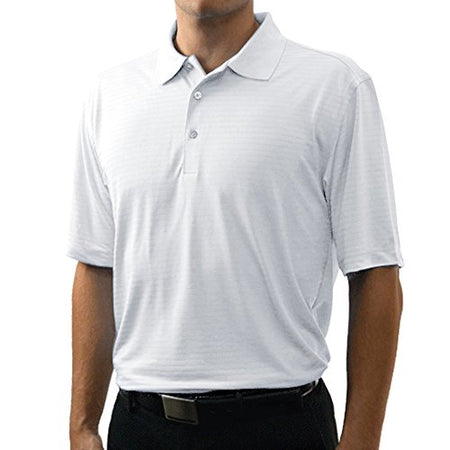Bermuda Sands Men's Shadow Performance Wick Away Polo Shirt White - Golf Country Online