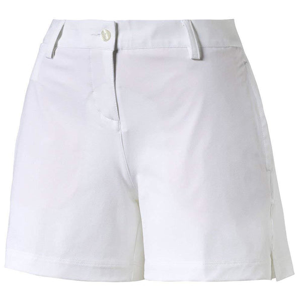Puma Golf Womens Scoop Shorts - Bright White - Apparel - Bottoms