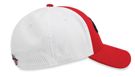 Callaway 2018 Mesh Fitted Hat, Red/White