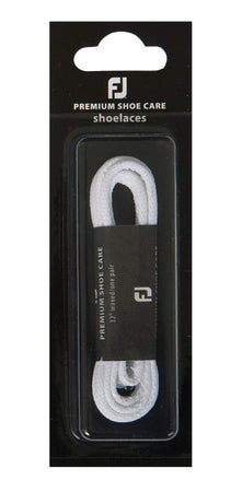 "FootJoy Replacement Premium Shoe Care Shoelaces - White 34"" Waxed"