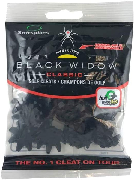 Softspikes Black Widow Classic (Fast Twist) Golf Spikes - 18 Pack