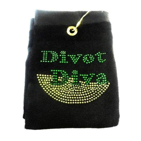 Divot Diva Embroidered Terry Cloth Golf Towel by Navika - Golf Country Online