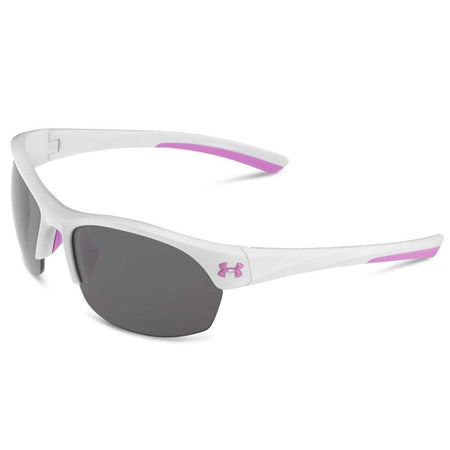 Ua Marbella Shiny White / Pink Shock Frame / Gray / Multiflection Lens - Sunglasses