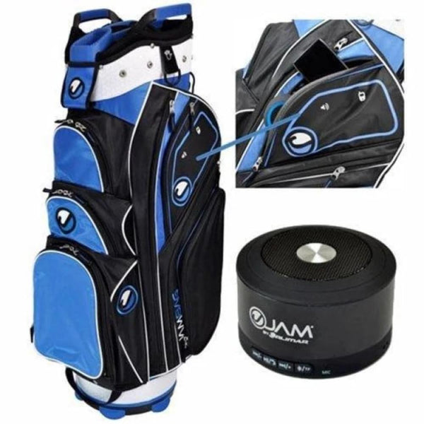 Orlimar Ojam Rhythm Speaker Golf Cart Bag (Wireless Ojam Speaker Included), Black/Royal/White - Golf Country Online