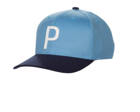 "Puma Golf ""P"" 110 Snapback Hat (One Size) - Throwback Azure Blue - Golf Country Online"