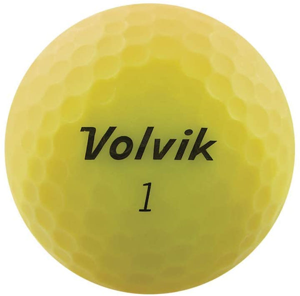 Volvik New Vivid Golf Balls - Matte Yellow