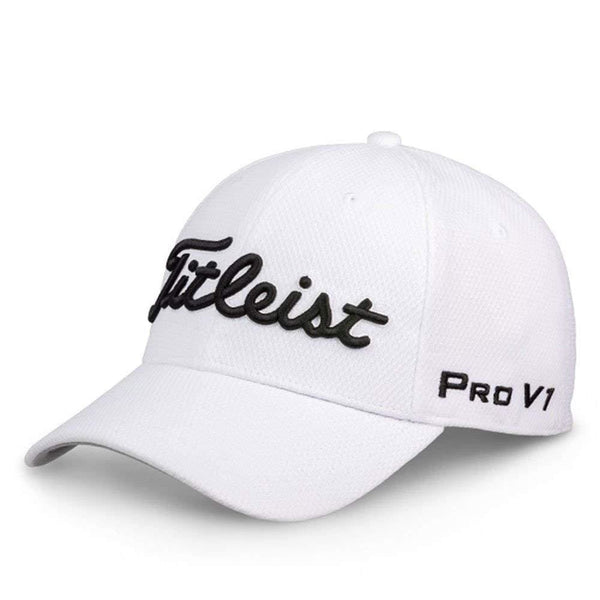 Titleist Players Deep Back Staff Collection Golf Cap 2018 White/Black - Golf Country Online