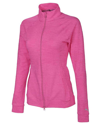 PUMA Golf Women's Vented Jacket - Fuchsia Purple Heather - Golf Country Online