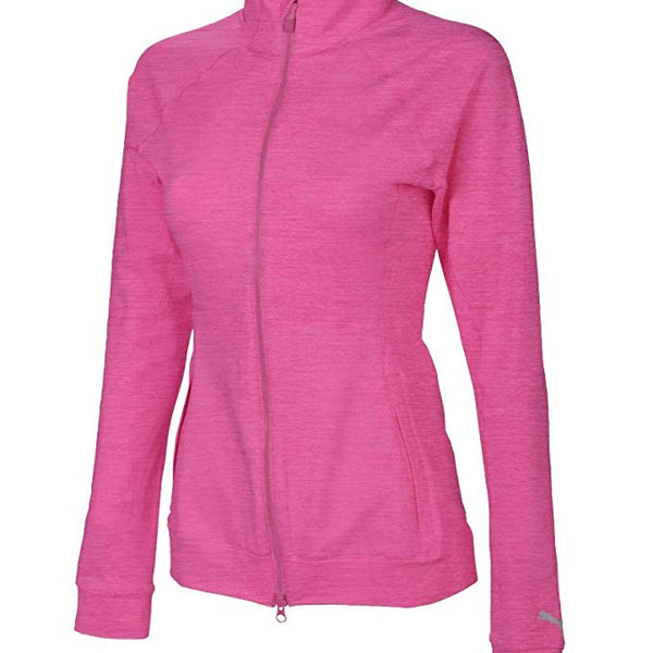 PUMA Golf Women's 2019 Vented Jacket Fuchsia Purple Heather
