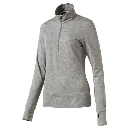 PUMA Golf Women's 1/4 Zip Popover - Medium Gray Heather