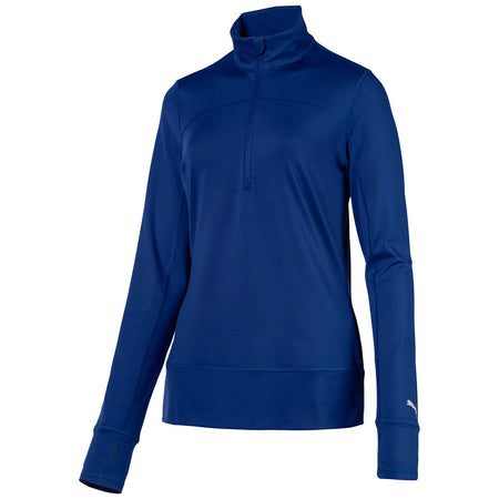 PUMA Golf Women's 1/4 Zip Popover - Sodalite Blue