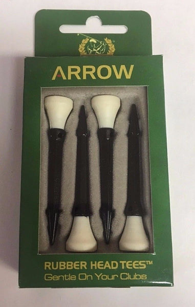 Golf Pro Arrow Tees, Rubber Head Tees, Random Colors - Golf Country Online