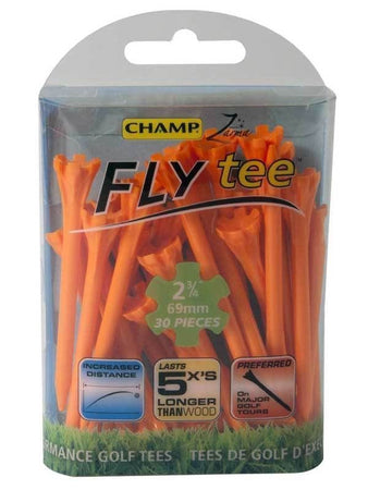 "Champ Zarma FLYtee - 2 3/4"" - ORANGE - Golf Country Online"