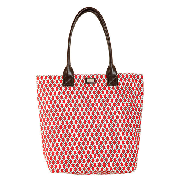 Ame & Lulu Pier Classic Tote Bag - Red/White - Golf Country Online