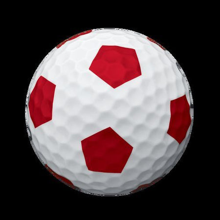 Callaway Truvis Chrome Soft White/Red Golf Balls - One Ball - Random Number