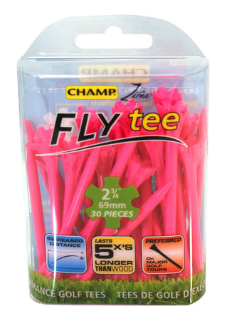 "Champ Zarma FLYtee - 2 3/4"" - PINK - Golf Country Online"