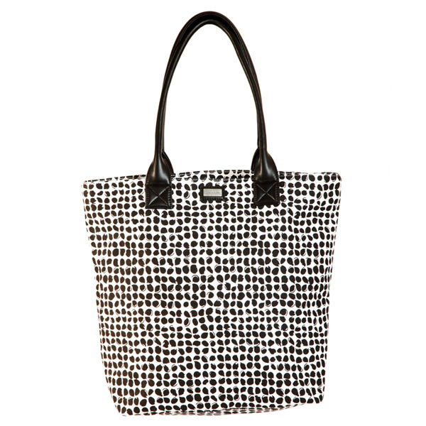 Ame & Lulu Poppy Classic Tote Bag - Black/White - Golf Country Online