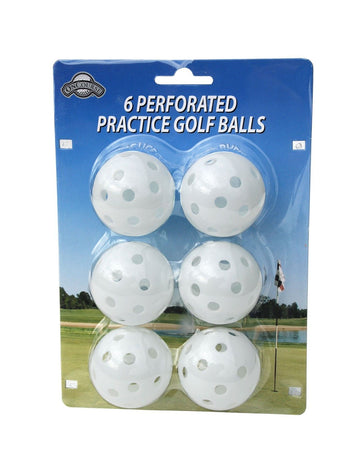 OnCourse Practice Golf Balls - 6 Perforated Practice White Golf Balls - Golf Country Online