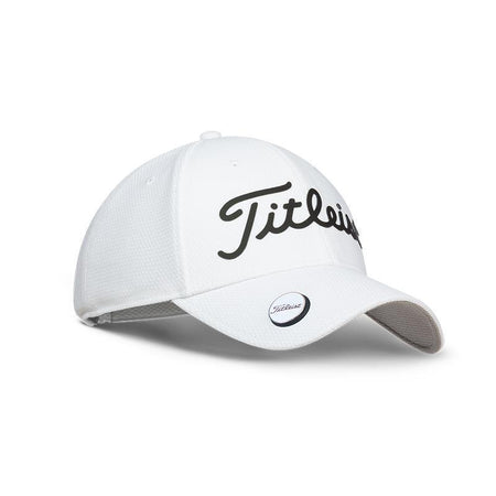 d219aec6b32 TITLEIST PLAYERS BALL MARKER HAT CAP ADJUSTABLE - WHITE BLACK