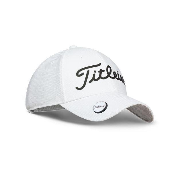 TITLEIST PLAYERS BALL MARKER HAT/CAP ADJUSTABLE - WHITE/BLACK - Golf Country Online