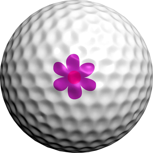 Transfer Studio Golfdotz Golf Ball Decals - SUMMER DAISIES