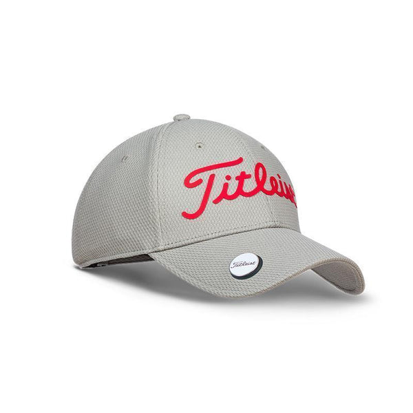 TITLEIST PLAYERS BALL MARKER HAT/CAP ADJUSTABLE - GRAY/RED - Golf Country Online
