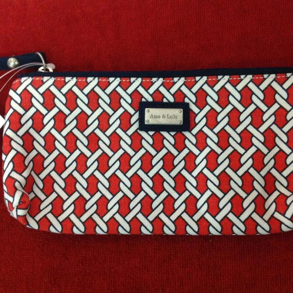 Ame & Lulu Cosmetic Brush Case - Red/White - Golf Country Online
