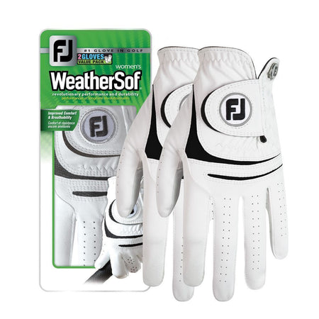 FootJoy WeatherSof 2-Pack Women's Golf Glove - Value Pack - Select Size - Golf Country Online