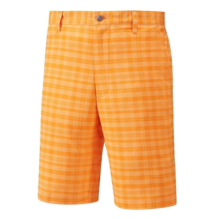 Footjoy Performance Tonal Plaid Golf Shorts - Melon - Apparel - Bottoms