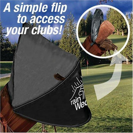Rain Wedge Easy Access Golf Bag Rain Hood / Cover - Golf Tees & Accessories