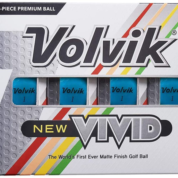 Volvik New Vivid Golf Balls - Matte Blue