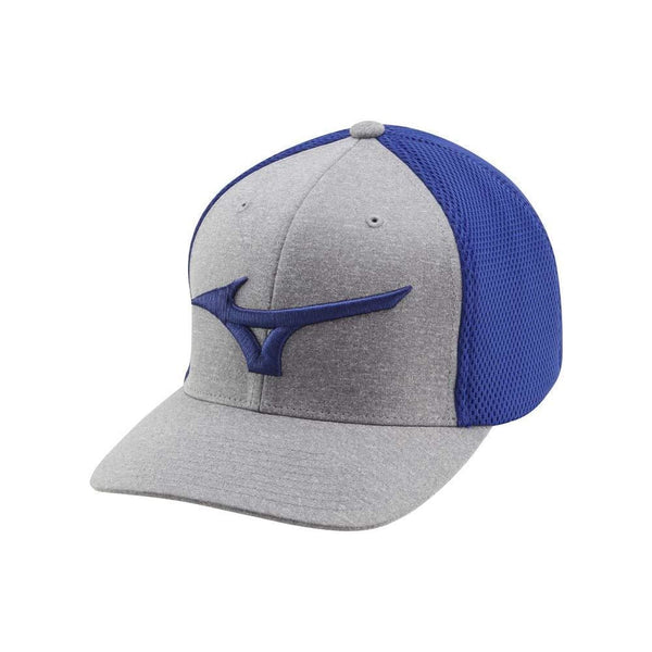 Mizuno Fitted (OSFA) Meshback Golf Hat, Royal/Gray - Golf Country Online