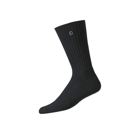 FootJoy ComfortSof Men's Crew Socks - Black (7-12) - Golf Country Online
