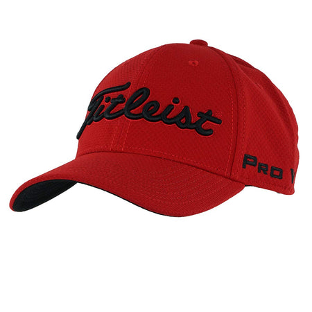 Titleist Dobby Tech Staff Collection Golf Cap - Red/Black