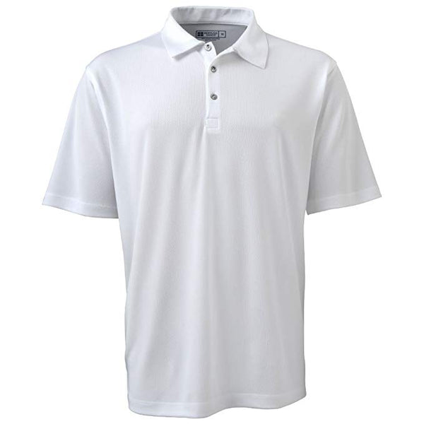 Bermuda Sands Men's Performance Wick Away Silky Polo Shirt White - Golf Country Online