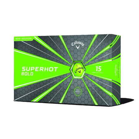 Callaway Golf 2018 Superhot Bold Matte Golf Balls (Pack of 15) - Green