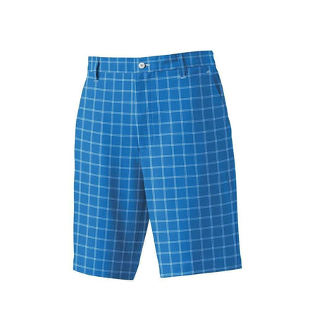 FootJoy Golf Plaid Shorts French Blue/White - Golf Country Online