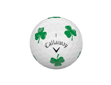 Callaway Golf Chrome Soft Truvis Golf Balls, (One Dozen), Shamrocks (Limited Edition)